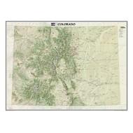National Geographics Colorado Wall Map