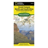 National Geographic Grand Canyon National Park, North and South Rims Map