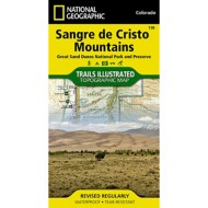National Geographic Sangre De Cristo Mountains (Great Sand Dunes National Park) Trail Map