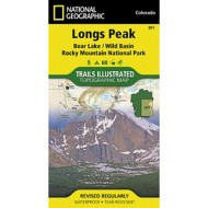National Geographic Longs Peak/ Rocky Mountain National Park Trail Map