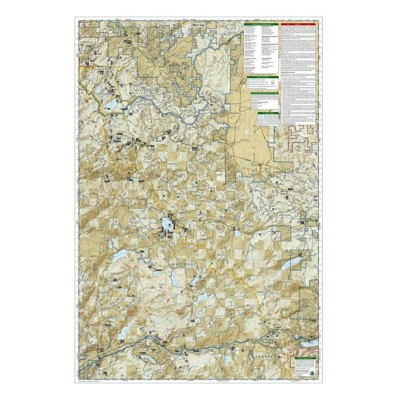 National Geographics Tahoe National Forest East Trail Map