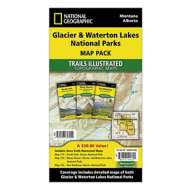 National Geographics Glacier and Waterton Lakes National Parks Trail Map Pack