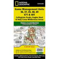 National Geographic Collegiate Peaks/ Eagles Nest/Holy Cross Wilderess Game Management Unit Bundle