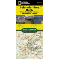 National Geographic Colorado 14ers North Topographic Map Guide