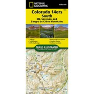 National Geographic Colorado 14ers South Topographic Map Guide