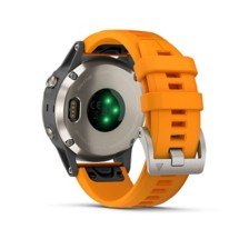 Garmin fenix 5 Plus, Titanium with Solar Flare Orange Band