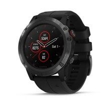 Garmin fenix 5X Plus - Ultimate Multisport GPS Smartwatch, Features Color TOPO Maps and Pulse Ox, Heart Rate Monitoring, Music and Garmin Pay - Black with Black Band