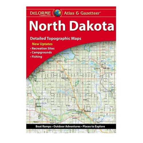DeLorme Atlas and Gazetteer Paper Maps - North Dakota