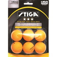 Stiga 3-Star 6-Pack Orange Ping Pong Balls