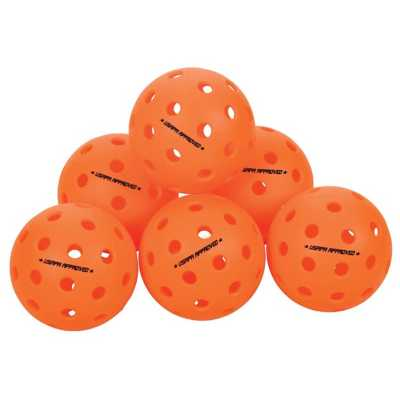 Escalade Sports ONIX Fuse Outdoor 6-Pack Pickleballs