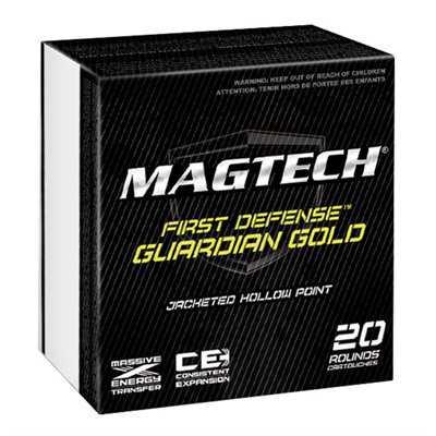 MagTech Ammo 40 S&W 180 Gr JHP Guardian Gold 20/bx