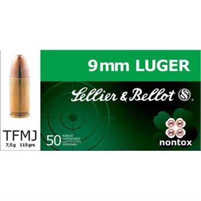 Sellier & Bellot 9mm Luger/9mm Para Non Tox 115Gr TFMJ 50/bx