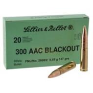 S+B Ammo 300 Blackout 147gr 20Rds/Box 50Box/Case