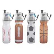 O2Cool 20oz Sports Themed Misting Water Bottle