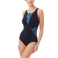 Women's Gabar High Neck Galaxy Print One Piece Swimsuit