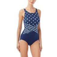 Women's Gabar High Neck Island Mix One Piece Swimsuit