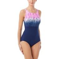 Women's Gabar High Neck Stripe One Piece Swimsuit