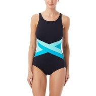 Women's Gabar High Neck Light Stream One Piece Swimsuit