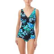 Women's Gabar Underwire V-Neck Native Floral One Piece Swimsuit