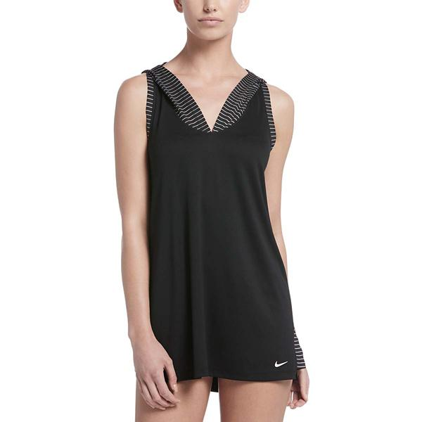 04ba0150ee Black Tap to Zoom; Women's Nike Solid Hooded Swim Dress Cover-Up