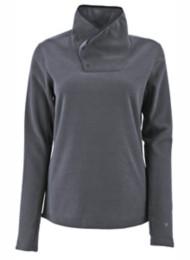 Women's White Sierra Blacktail Snap-Neck Fleece Sweatshirt