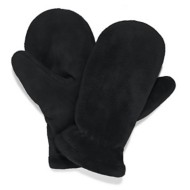 Women's White Sierra Cozy Reversible Fleece Mittens