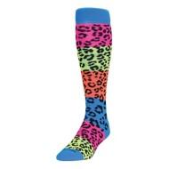 Adult TCK Rainbow Leopard Sock