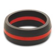 Men's Qalo Thin Line Red Ring