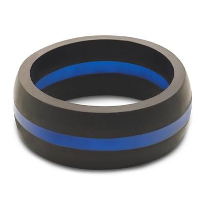 Men's Qalo Thin Line Blue Ring
