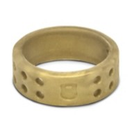 Women's Qalo Perforated Gold Ring