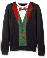 Men's Ugly Christmas Sweater Tux Pullover Sweater