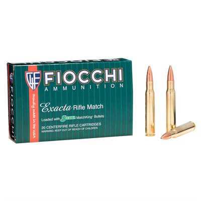 Fiocchi Exacta 30-06 168gr SMK HPBT 20/bx