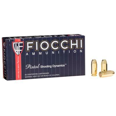 Fiocchi Shooting Dynamics 40 S&W 165gr FMJTC 50/bx