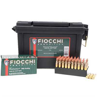 Fiocchi Extrema 223 Rem 50gr V-Max 200 Rd Ammo Can