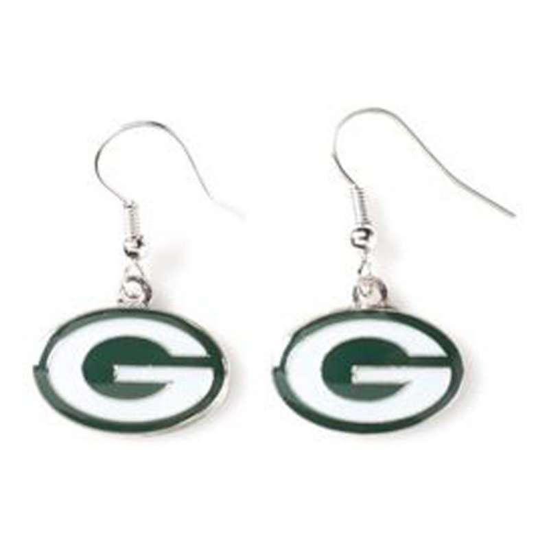 Aminco International Green Bay Packers Dangle Earring
