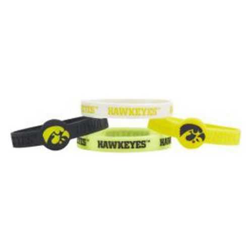 Aminco International Iowa Hawkeyes 4pk Silicone Bracelet