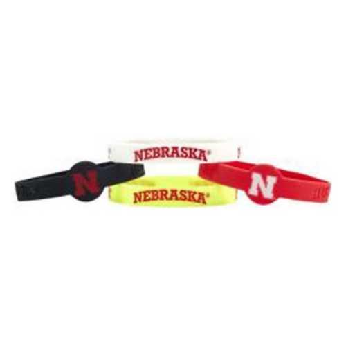 Aminco International Nebraska Cornhuskers 4pk Silicone Bracelet