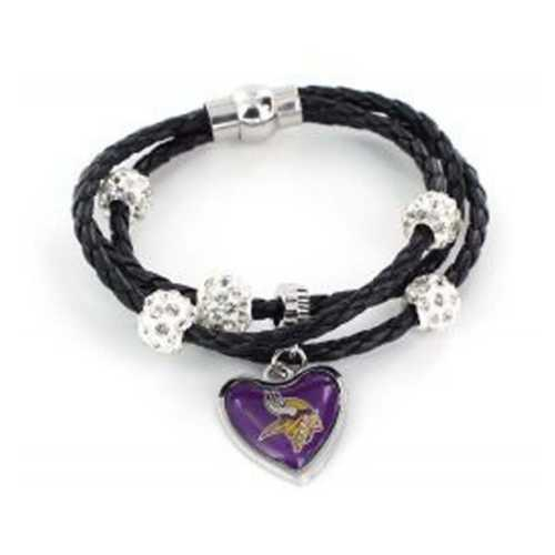 Aminco International Minnesota Vikings Braided Bracelet