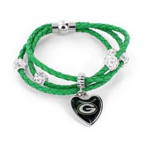 Aminco International Green Bay Packers Braided Bracelet