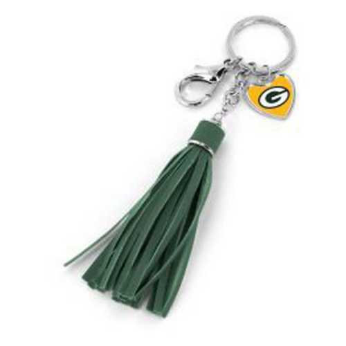 Aminco International Green Bay Packers Tassel Charm Key Ring