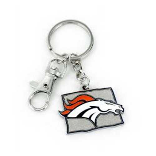 Aminco International Denver Broncos State Keychain