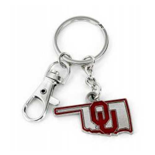 Aminco International Oklahoma Sooners State Key Ring