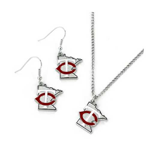 Aminco Minnesota Twins Earring and Necklace State Set