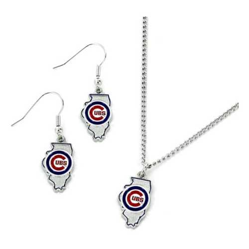 Aminco Chicago Cubs Earring and Necklace State Set
