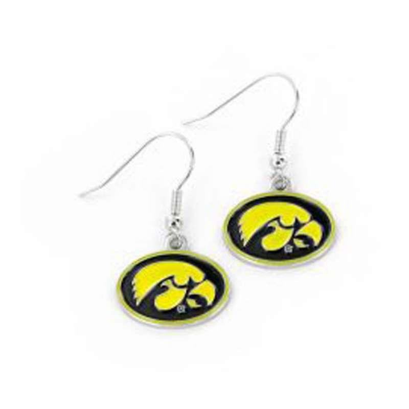 Aminco International Iowa Hawkeyes Swirl Earring