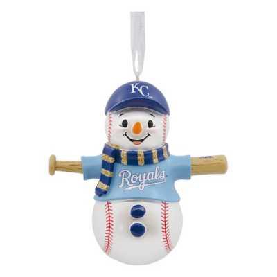 Hallmark Kansas City Royals Bat Snowman Ornament