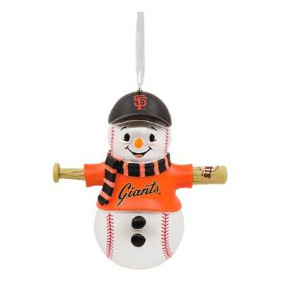 Hallmark San Francisco Giants Bat Snowman Ornament