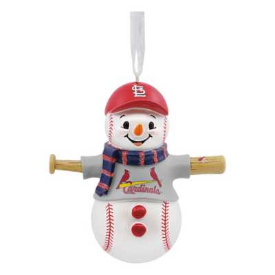 Hallmark St. Louis Cardinals Bat Snowman Ornament