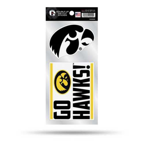 Rico Iowa Hawkeyes Double Up Decals