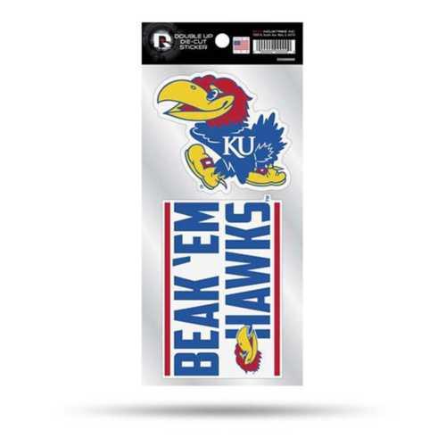 Rico Kansas Jayhawks Double Up Decals